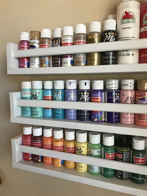 Diy-Acrylic-Paint-Rack
