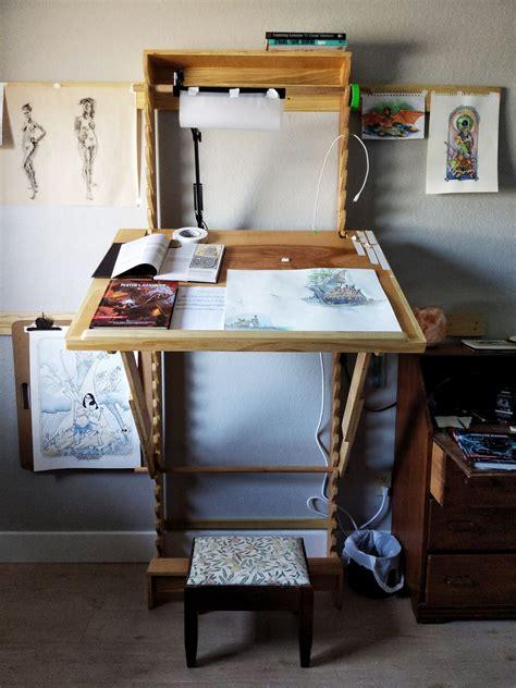 Diy-Adjustable-Art-Desk
