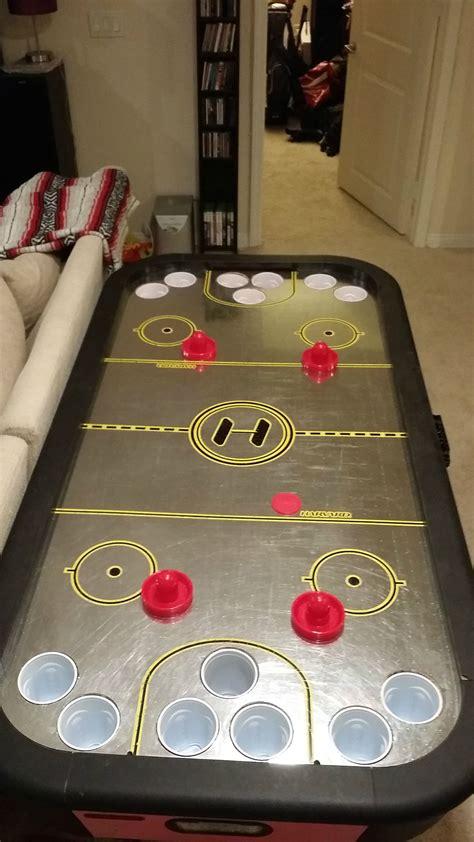 Diy-Alcohockey-Table