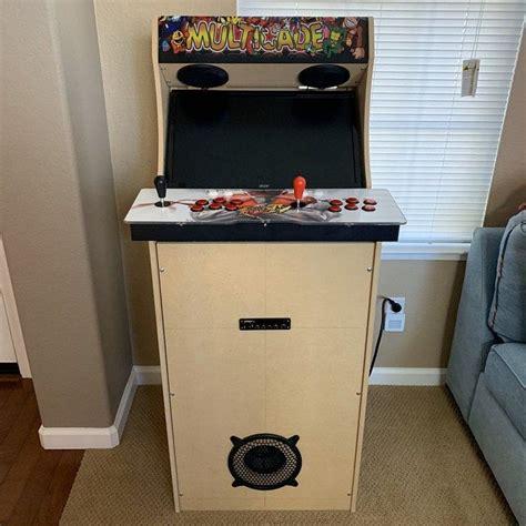 Diy-Arcade-Cabinet-With-Pandora-Box-Arcade-Sticks