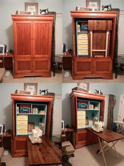 Diy-Armoire-Into-Craft-Cabinet