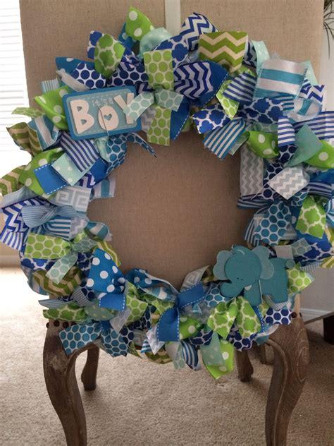 Diy-Baby-Boy-Wreaths-For-Hospital-Door