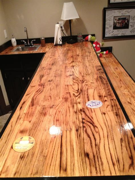 Diy-Bar-Top-Out-Of-Wood-Flooring