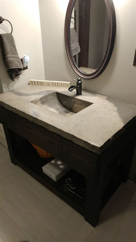 Diy-Bathroom-Concrete-Vanity