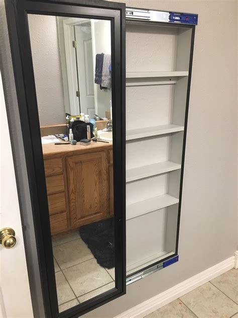 Diy-Bathroom-Organization-Cabinet-With-Full-Length-Mirror