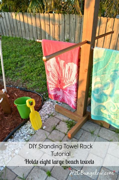Diy-Beach-Towel-Drying-Rack
