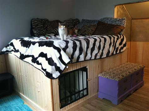 Diy-Bed-Frame-With-Dog-Kennel