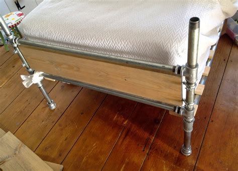 Diy-Bed-Frame-With-Pipe-Legs