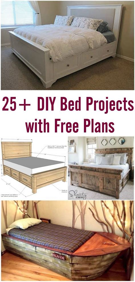 Diy-Bed-Projects-With-Free-Plans