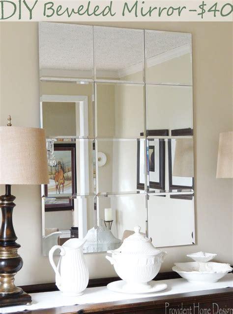 Diy-Beveled-Mirror-Tiles-On-Media-Cabinet