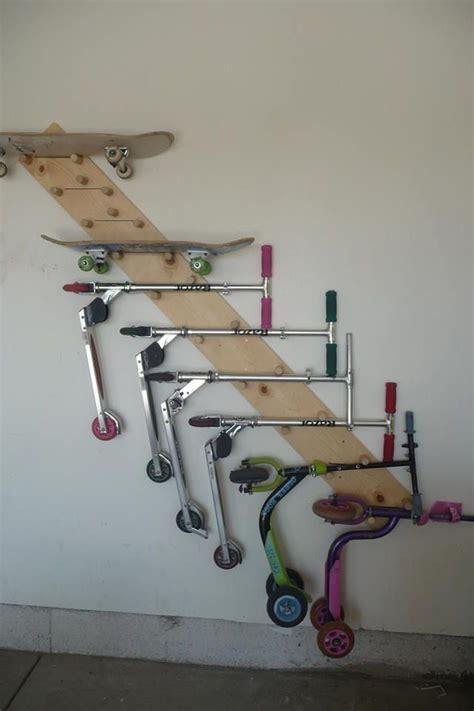 Diy-Bicycle-Skateboard-Rack