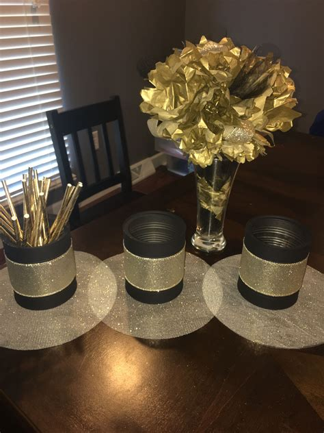Diy-Black-And-Gold-Table-Decorations