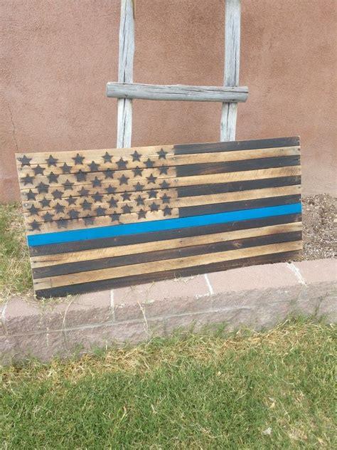 Diy-Blue-Line-Wood-Flag