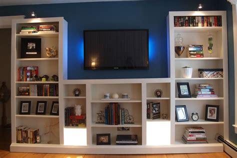 Diy-Bookcase-And-Media-Center
