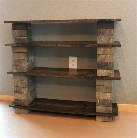 Diy-Bookcase-Made-With-Concrete-Blocks-And-Wood