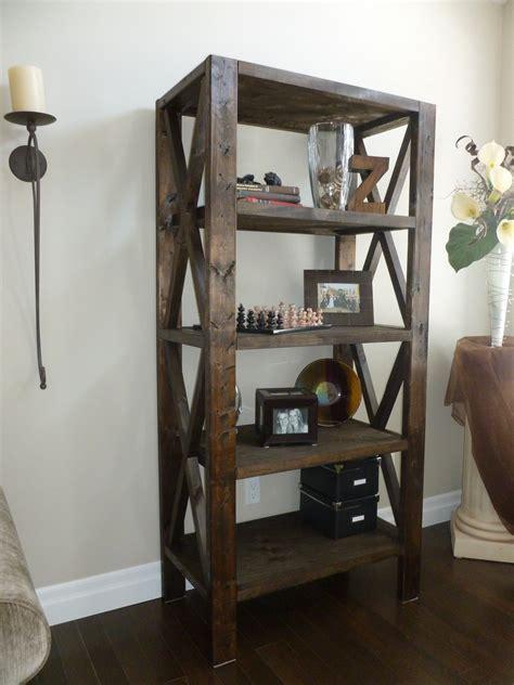 Diy-Bookcase-Rustic