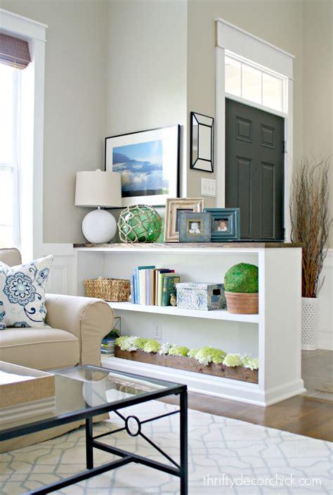 Diy-Bookshelf-Half-Wall