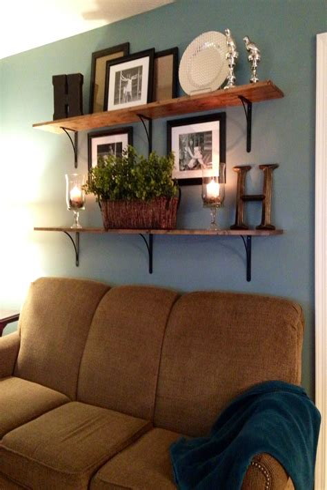 Diy-Brown-Wooden-Shelves-For-Living-Room-Decor-Ideas