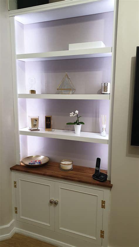Diy-Built-In-Alcove-Shelves