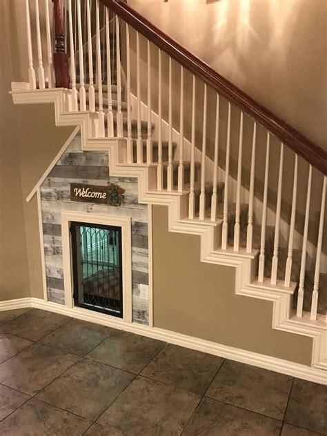 Diy-Built-In-Dog-Kennel-Under-Stairs