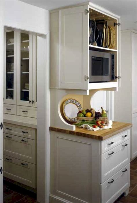 Diy-Built-In-Microwave-Cabinet