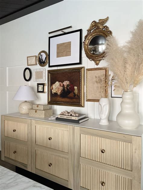 Diy-Built-In-Shelves-And-Credenza-With-Fluting