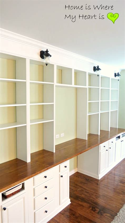 Diy-Built-In-Wall-Bookshelf