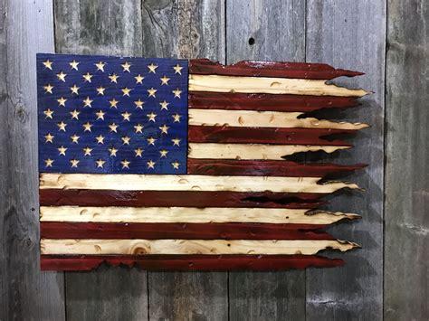 Diy-Burn-Wood-Rustic-American-Flag