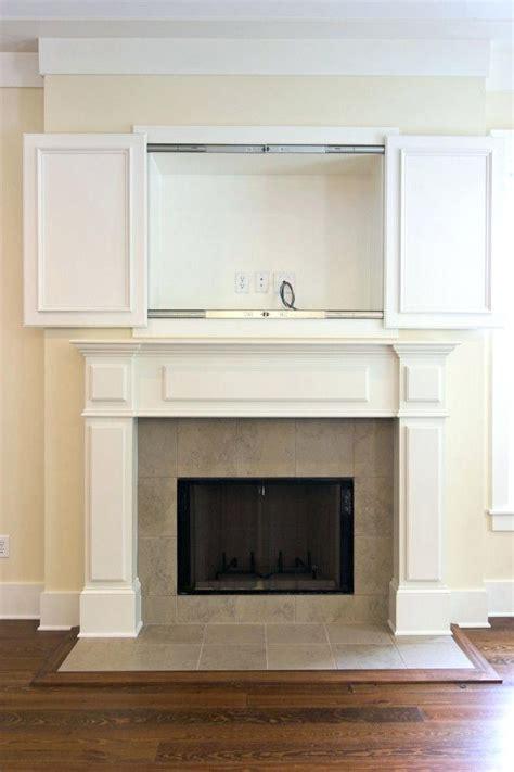 Diy-Cabinet-Doors-To-Hide-Tv-Above-Fireplace