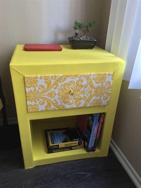 Diy-Cardboard-Bedside-Table