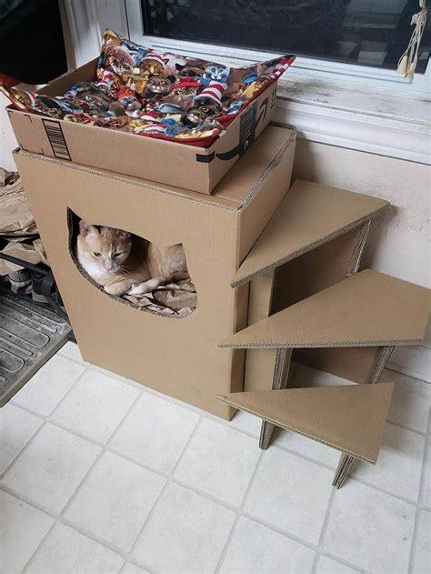 Diy-Cardboard-Box-Cat-Tree