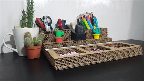Diy-Cardboard-Desk-Organizer-Ceirial-Box