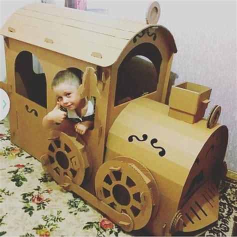 Diy-Cardboard-Train-Playhouse