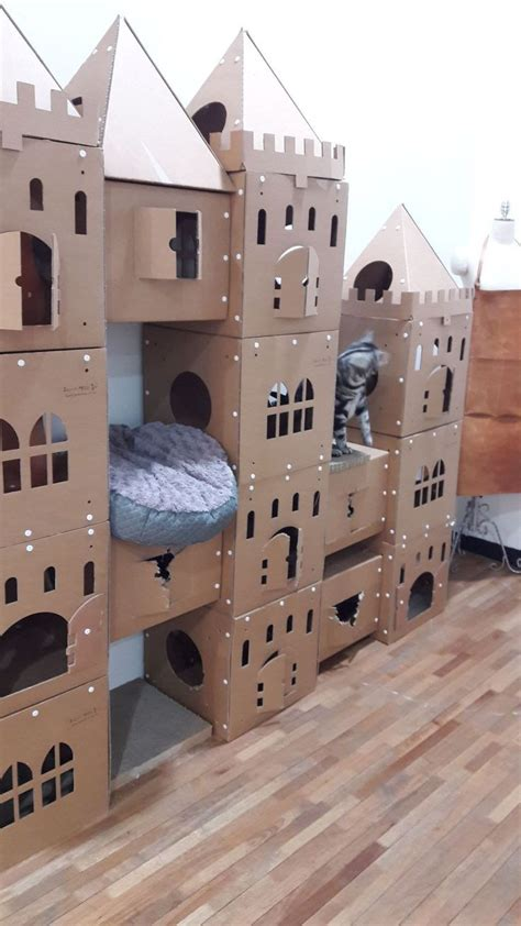 Diy-Cat-Box-Castle