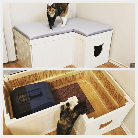 Diy-Cat-Litter-Box-Bench