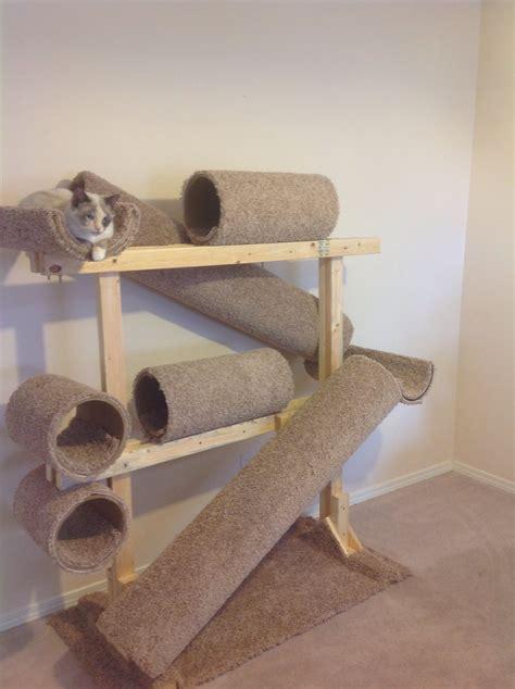 Diy-Cat-Tree-Cardboard-Tubes
