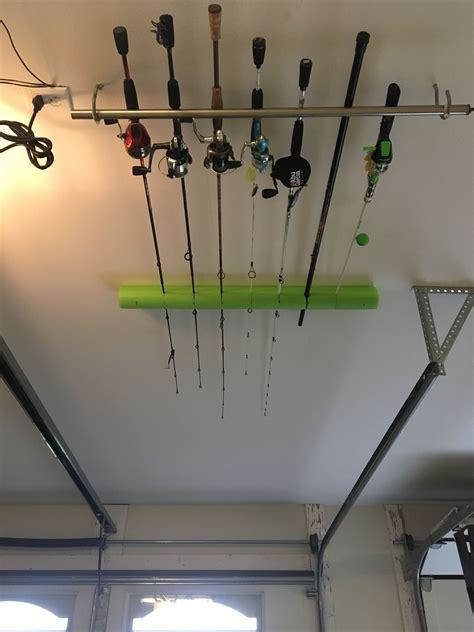 Diy-Ceiling-Fishing-Rod-Holder