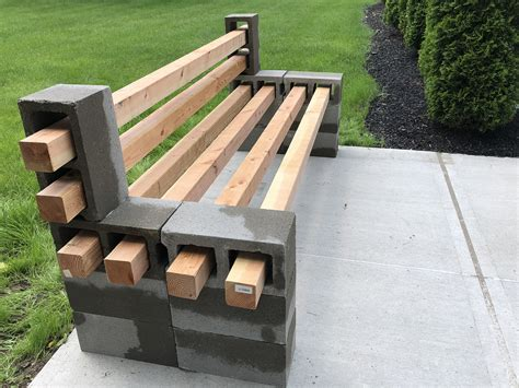 Diy-Cement-Bench