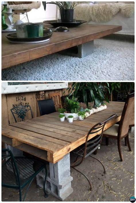 Diy-Cement-Block-Table