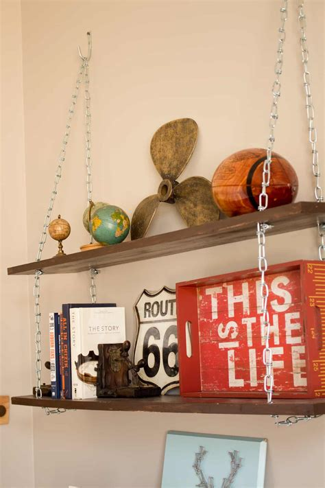 Diy-Chain-Shelves