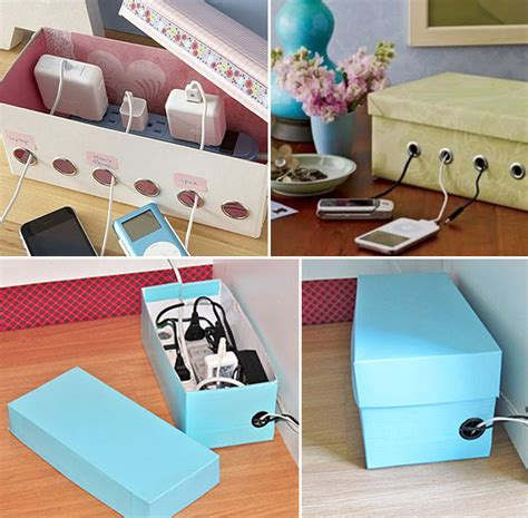 Diy-Charging-Station-With-Shoe-Box
