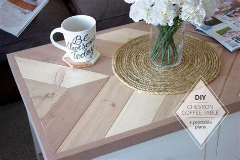 Diy-Chevron-Coffee-Table