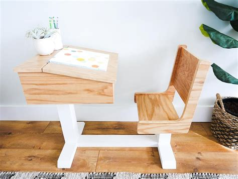 Diy-Childrens-School-Desk