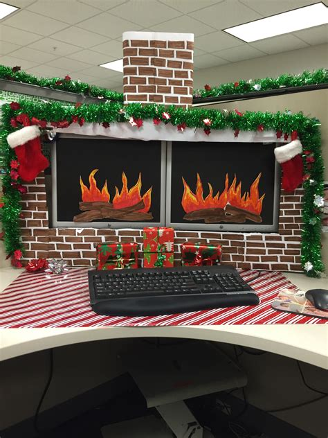 Diy-Christmas-Decorations-For-Office-Desk