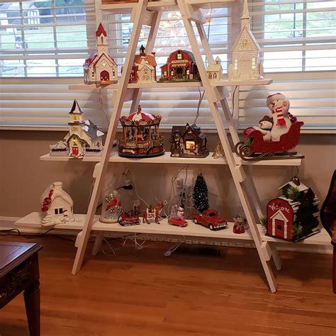 Diy-Christmas-Ladder-Shelf