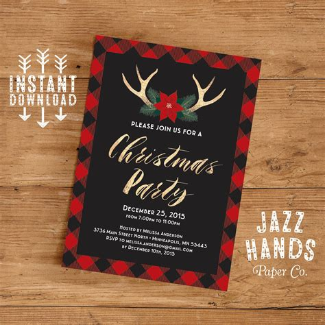 Diy-Christmas-Party-Invitations