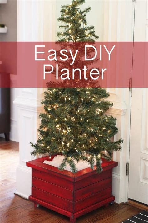 Diy-Christmas-Tree-Planter-Box