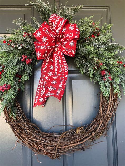 Diy-Christmas-Wreaths-For-The-Front-Door
