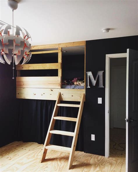 Diy-Closet-Under-Loft-Bed