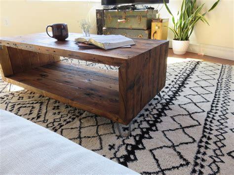 Diy-Coffee-Table-Reclaimed-Wood